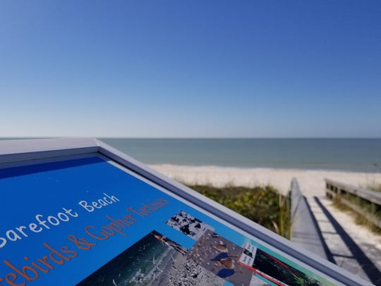 Barefoot Beach County Preserve is a popular place for