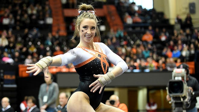 OSU gymnast Kaytianna McMillan has won 38 event titles in her college career.