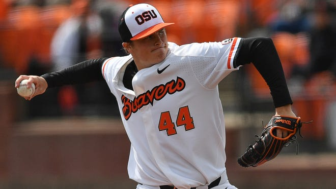 OSU pitcher Jake Thompson, who leads the nation with 14 wins, is expected to be the Beavers' Game 1 starter in the College World Series.