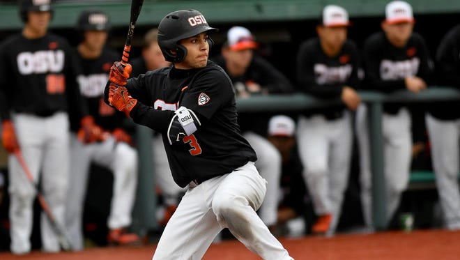 Oregon State second baseman Nick Madrigal is expected to be selected in the first round of the 2018 Major League Baseball draft.