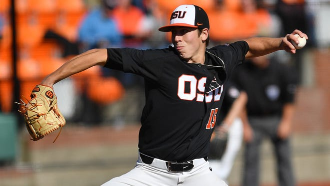 Oregon State's Luke Heimlich leads the nation with 15 wins and is the school's career leader in strikeouts.