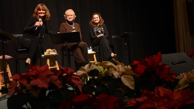 The Lennon Sisters, from left, Kathy, Janet, and Mimi pose for a picture Monday, Dec. 14, during the Town Hall lecture series at McMorran Theatre.
