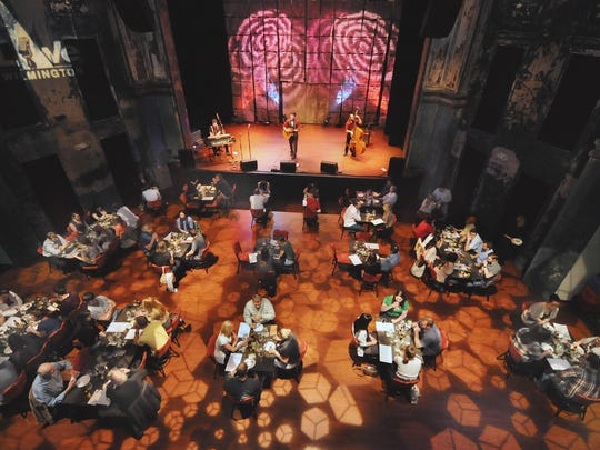 About 80 people dine at a food and beverage event at the World Cafe Live at the Queen in Wilmington in 2012.