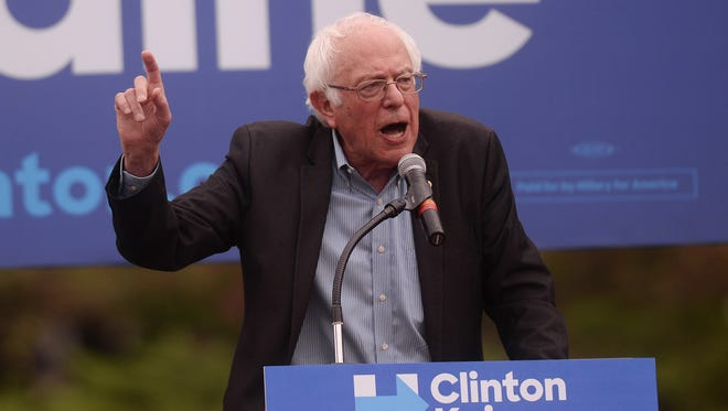 Vermont Sen. Bernie Sanders visited Michigan State University in fall 2016 and campaigned for Hillary Clinton.