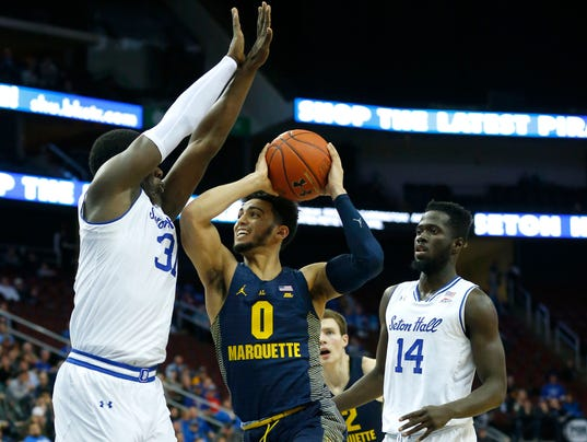 NCAA Basketball: Marquette at Seton Hall