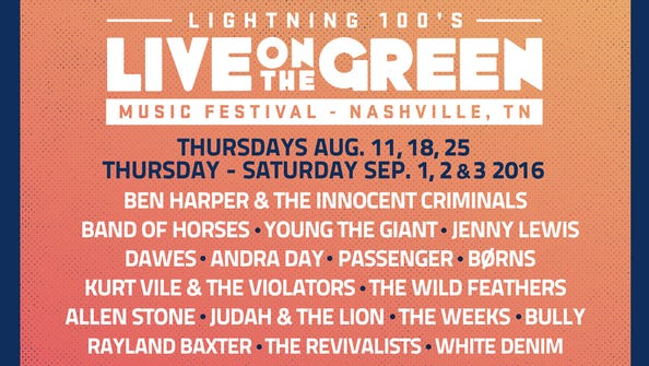 Live on the Green revealed its 2016 lineup on June