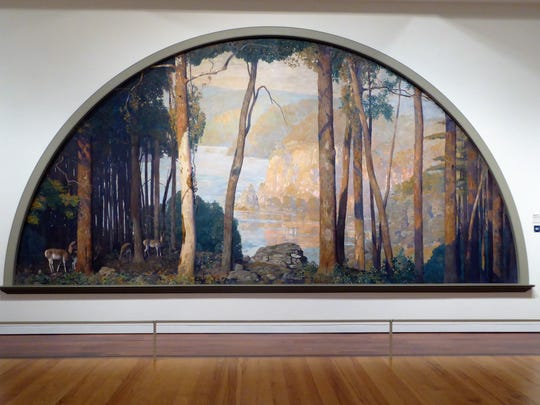 "The ""Wooded Watershed Lunette"" in the James Michener Art Museum, painted by Daniel Garber, was almost lost to history."