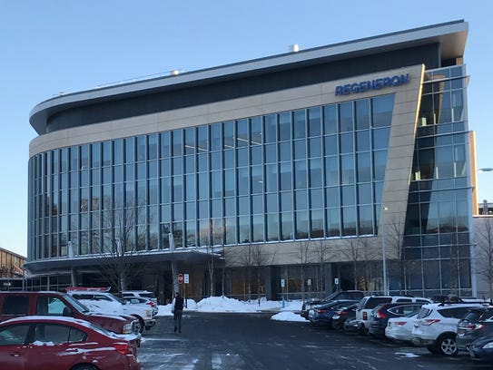 Regeneron's parking lot was filled with cars the morning