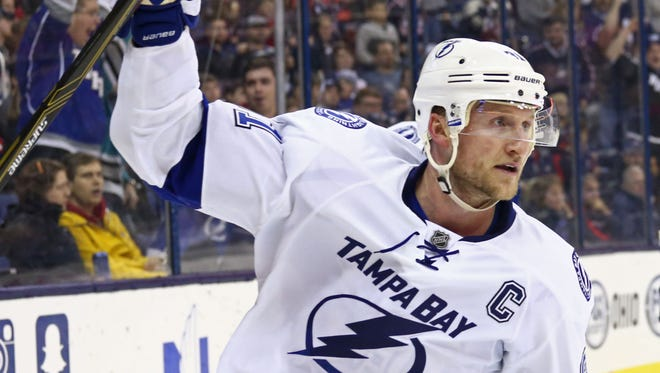 Steven Stamkos has a contract with the Tampa Bay Lightning through 2024.