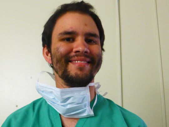 Rafael Cardona, 27, is a third-year medical student