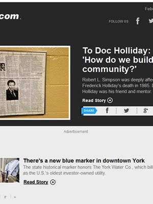 The York County History Newsletter put out weekly by the York Daily Record will soon be published twice a week.