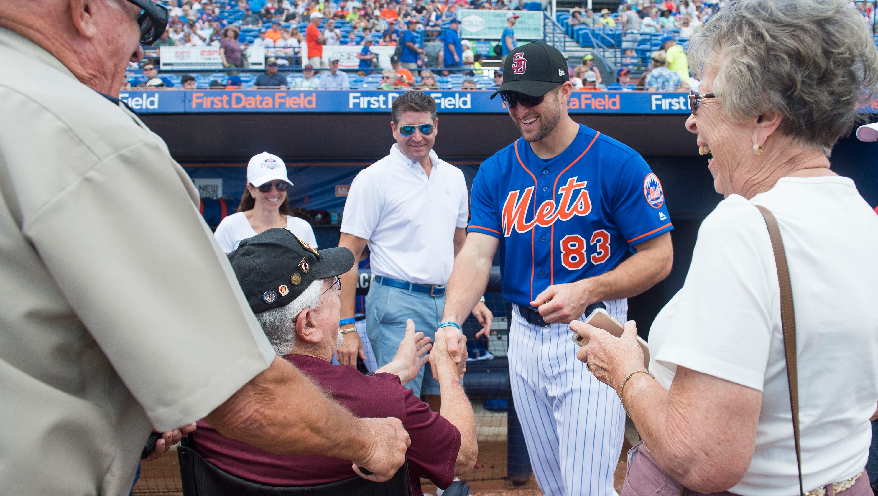 Fans flock to first data field for first mets spring training game kristyandbryce Gallery