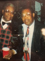 Personal photo of Stanford Barnes, right, and the legendary