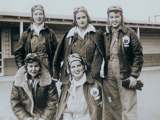 Cadets from the Class 44-W-4, from top left, Dorothy