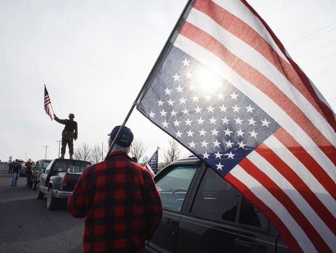 Protesters show their support at the Malheur Wildlife
