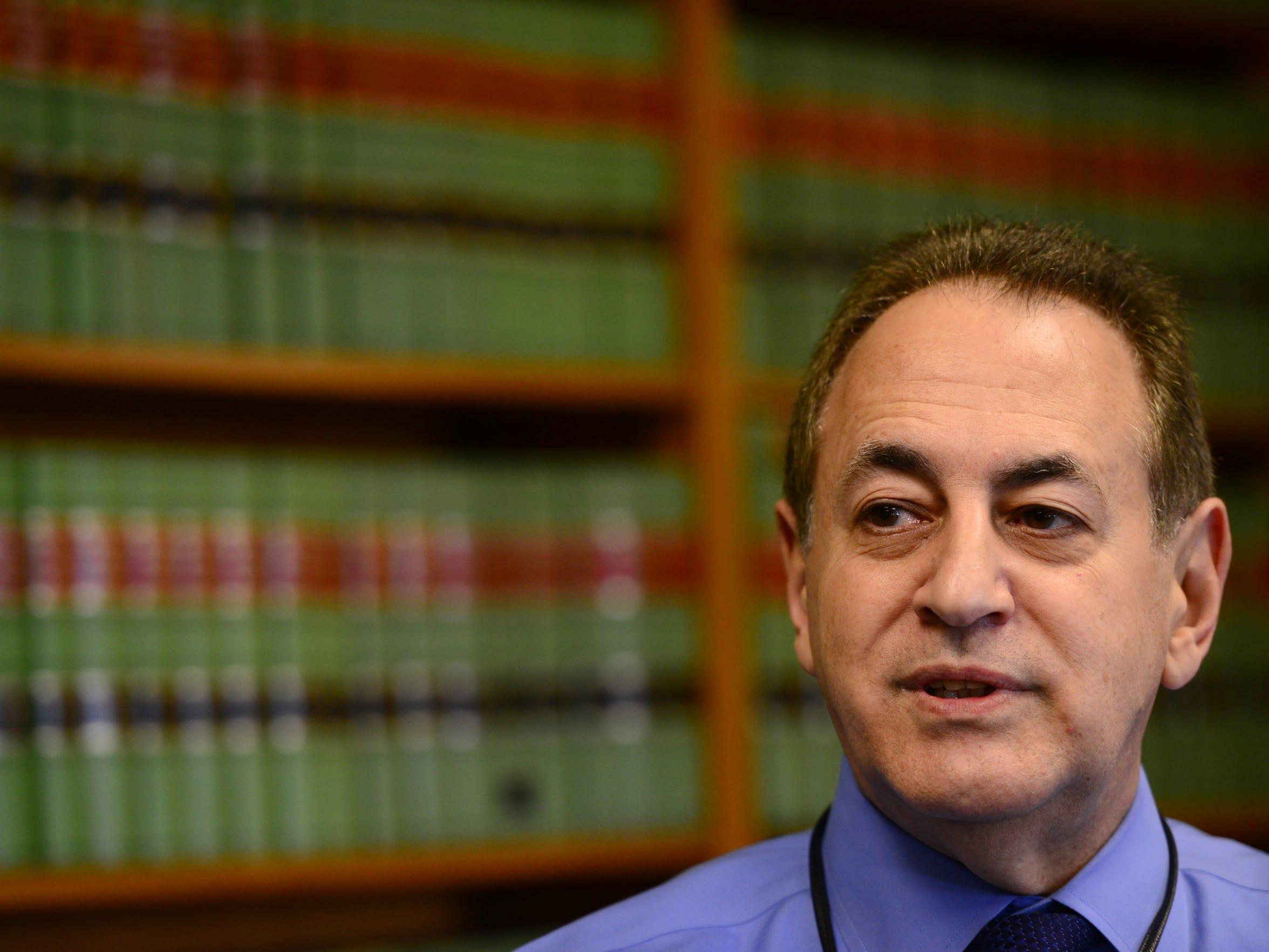 Drug Court Judge Miguel de la Carrera in his chambers