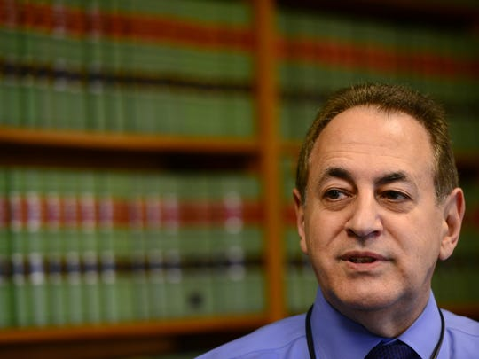 Drug Court Judge Miguel de la Carrera in his chambers at the Passaic County Superior Courthouse in Paterson.