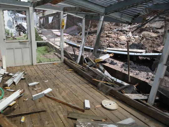 After damage to the apartments at 570 Fairview Ave.