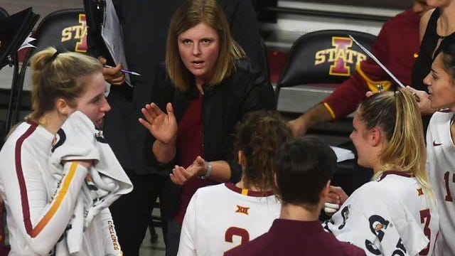 Flexibility will be the name of the game this fall for the Iowa State volleyball team and coach Christy Johnson-Lynch, especially if positive tests upend whatever tentative plans there may ultimately be. Ames Tribune file photo by Nirmalendu Majumdar