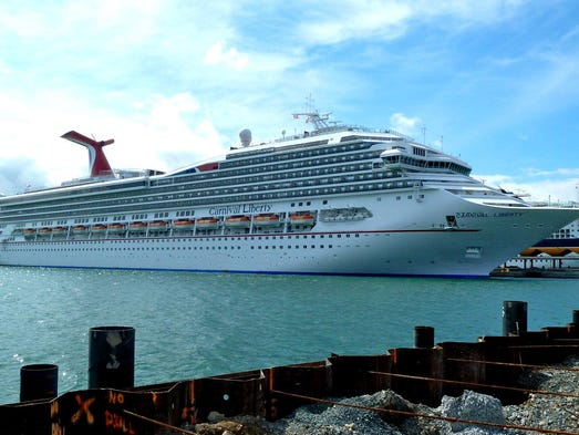 "The 110,000-gross-ton, 2,974-guest Carnival Liberty was the first of Carnival Cruise Lines' 24 ships to feature ""Fun Ship 2.0"" enhancements, which were added during a two-week dry dock in October 2011."