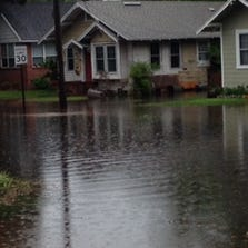 Flooding along Challen Avenue in May, 2014.