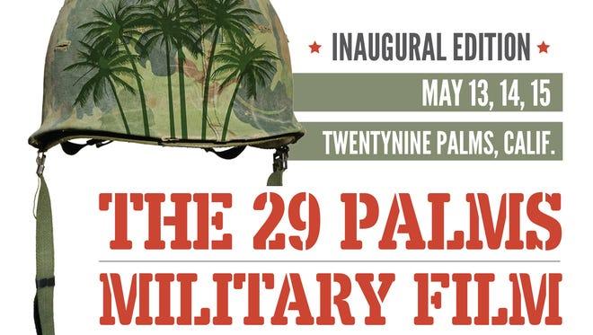 The inaugural 29 Palms Military Film Festival logo.