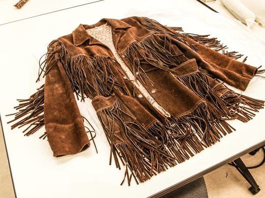 """A fringe jacket worn by """"Cowboy Bob"""" Glaze is now in the collection of the Indiana State Museum in Indianapolis on Wednesday June 21, 2017. The jacket was worn on air by the beloved children's TV host."""