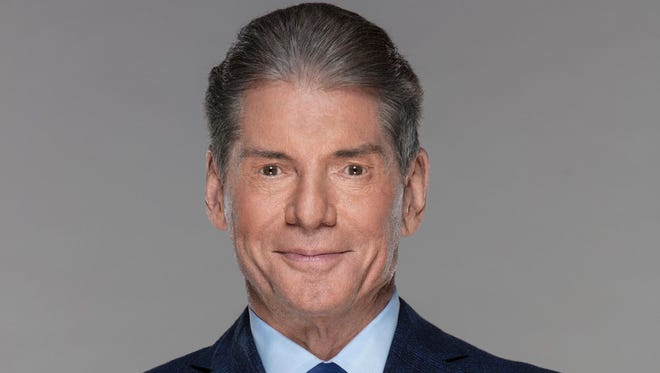 WWE founder and chairman Vince McMahon poses for a portrait photo.  McMahon announced that the XFL will re-launch in 2020. Mandatory Credit: Craig Ambrosio/Handout Photo via USA TODAY Sports