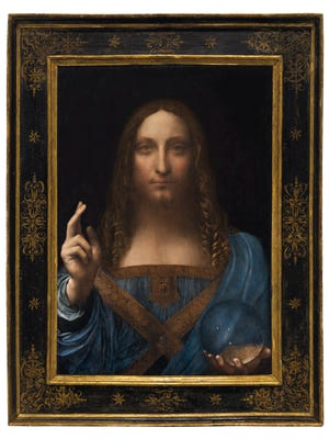 Leonardo Da Vinci's once-lost masterpiece, Salvator Mundi, goes on sale Nov. 15 in New York for what is expected to be a sale price north of $100 million.