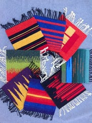 Weavings by Lynn Breckenridge will be featured in the