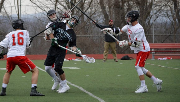 Pleasantville attackman Brian Reda draws plenty of