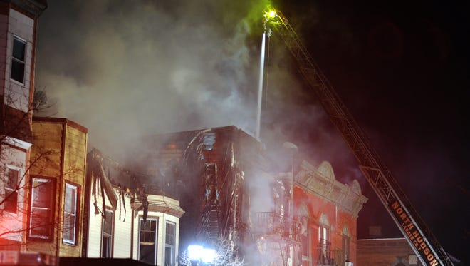 The scene where a multiple alarm fire that took place at 1404 Summit Avenue caused a chain reaction fire at St. Joseph and St. Michael Church on Central Avenue in Union City around 1 a.m. on March 4, 2017.
