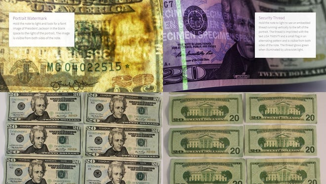 U.S. currency is made with portrait watermarks and security threads to help distinguish them from counterfeit bills. Rehoboth Beach Police are investigating three incidents in which counterfeit bills were passed over the weekend.