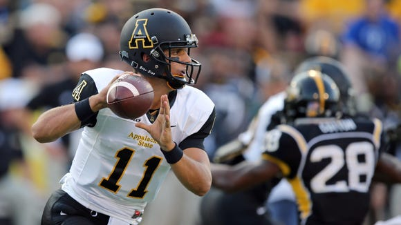 Quarterback Taylor Lamb (11) set an Appalachian State