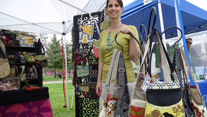 Robyn Zindren won best of show for this year's vendors at the Earth Gathering art festival.