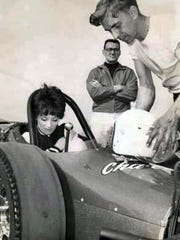 Nationally famous Shirley Muldowney, with husband Jack,
