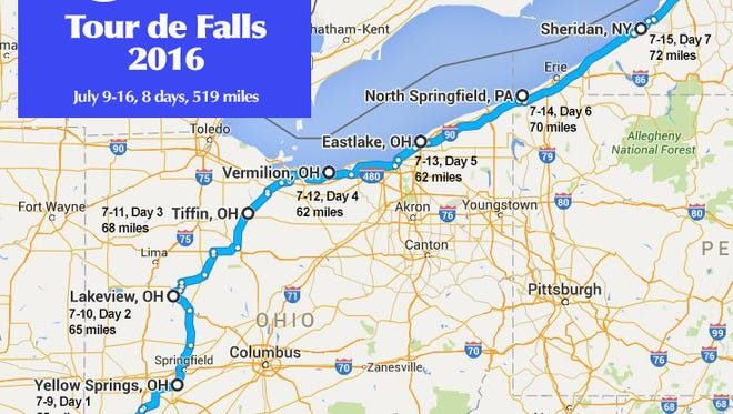The almost 520-mile route