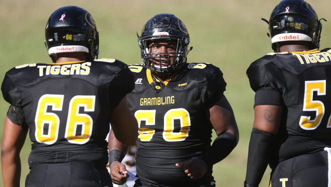 Grambling hosts the University of Arkansas at Pine BluffRobinson Stadium for the Tigers' homecoming on Saturday, October 29, 2016. Grambling was leading 49-0 by the third quarter.