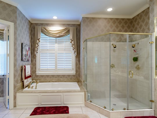 The master suite has a gorgeous bathroom.