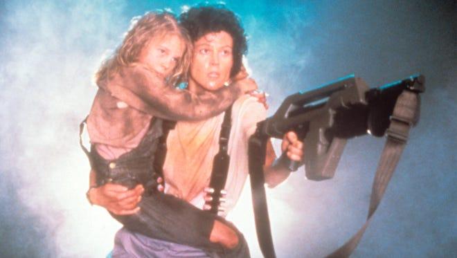 Sigourney Weaver holds Carrie Henn in 1986's 'Aliens.'