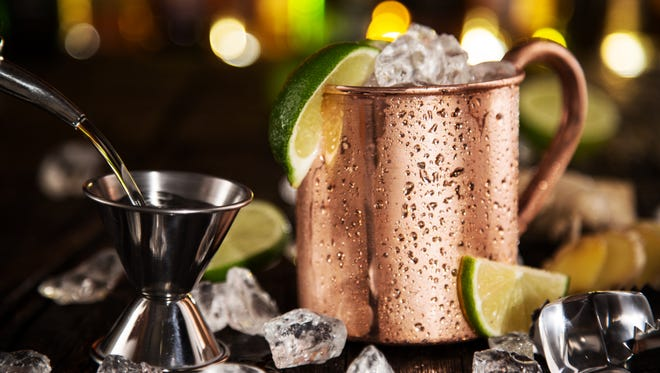 Cold Moscow Mule - Ginger Beer, lime and Vodka