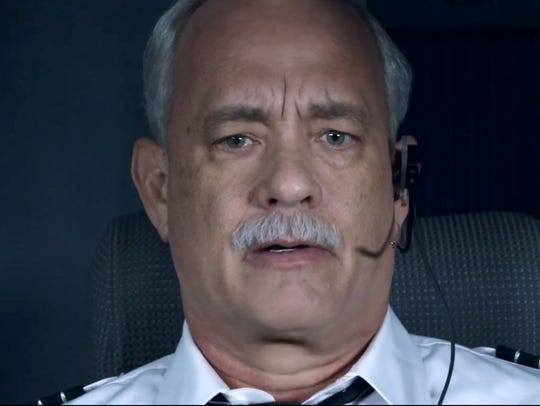 "Tom Hanks as Chesley 'Sully' Sullenberger in ""Sully."""