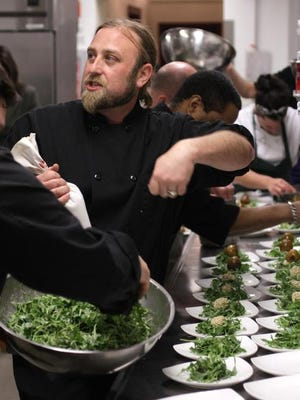 """Chef Eric Aber of Home Grown Cafe offers monthly """"Supper Club"""" dinners at the Newark restaurant."""