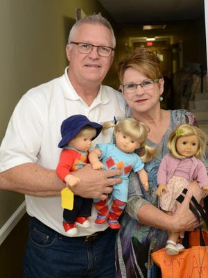 Sandra and Frank Hubbard, founders of The Butterfly Ministry for Girls, gather donated American Girl dolls and clothing, repair them and give them to girls in the foster care system.