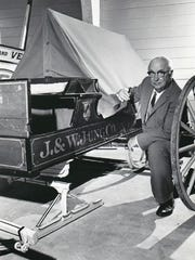 Wesley Jung with a Jung carriage.