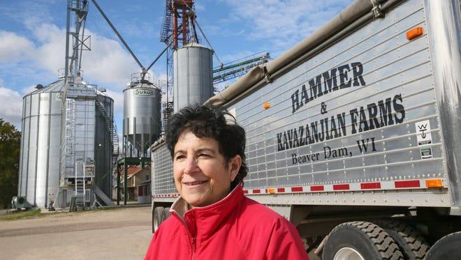 Nancy Kavazanjian and her husband, Charles Hammer, own and operate Hammer & Kavazanjian Farms in Beaver Dam.