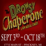 """Marlene Inman as The Drowsy Chaperone with Patrick O'Reilly as Man In Chair in The Dio's production of """"The Drowsy Chaperone."""""""