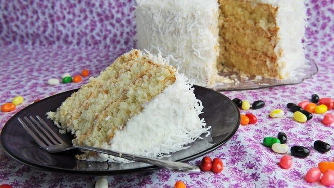 Joe Truskot's coconut cake.