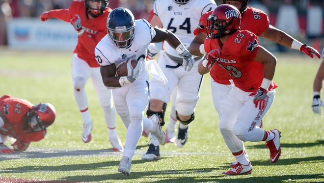 Nevada running back James Butler piled up 244 yards in a win over UNLV.