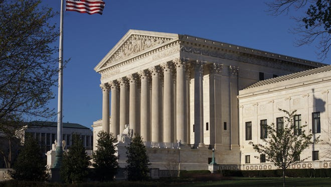 In this April 4, 2017, file photo, the Supreme Court building is seen in Washington.